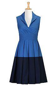 Colorblock cotton dress