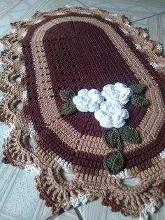 tapetes Pregnancy pregnancy or period Puff Stitch Crochet, Crochet Mat, Crochet Carpet, Crochet Round, Filet Crochet, Crochet Doilies, Crochet Flowers, Baby Boy Scrapbook, Crochet Home Decor