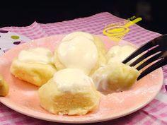 z cukrem pudrem: węgierskie knedle serowe Polish Recipes, Polish Food, Dim Sum, Tortellini, Dumplings, Recipies, Good Food, Food And Drink, Cooking Recipes