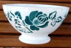 Bol en faïence de Digoin, modèle 9334, décor rose verte. Old Bowl. in Céramiques, verres   eBay