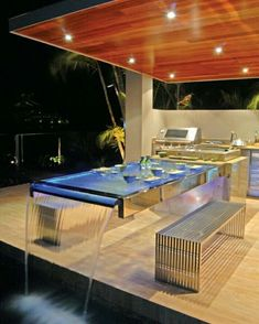 45 Trendy Ideas For Backyard Patio Table Decks Backyard Pool Designs, Backyard Patio, Garden Table, Patio Table, Terrasse Design, Pool Houses, House Goals, Modern House Design, Home Interior Design