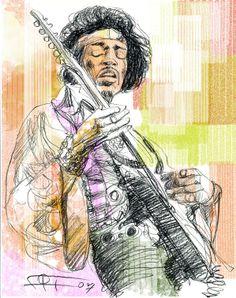 Jimi Hendrix, técnica mixta