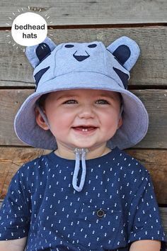 50fa21cd044 Bedhead baby bucket hats offer UPF sun protection