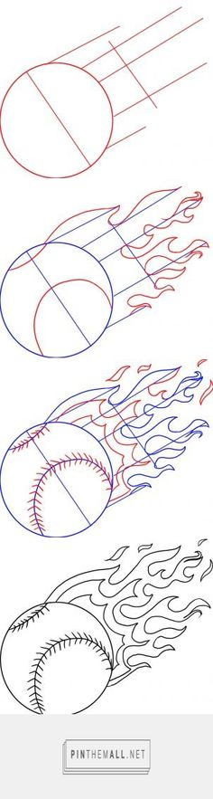 How to Draw a Baseball, Step by Step, Sports, Pop Culture, FREE Online Drawing Tutorial, Added by Dawn, December 14, 2008, 2:17:51 pm - created via http://pinthemall.net