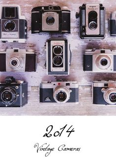 2014 Vintage Cameras with Quote Desk Calendar ~Gift for Photographer  5x7 $24