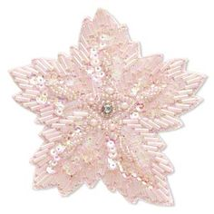 Sew-on component, velveteen / glass seed bead / acrylic sequin / acrylic pearl / brass, pink and pink AB, 3-3/4 x 3-1/2 inch flower. Sold individually.