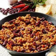 Chili con carne à la Tex Mex Mexican Chilli Con Carne, Spicy Chili, Chilli Recipes, Beef Recipes, Healthy Recipes, Soups And Stews, Soul Food, Macaroni And Cheese, Dinner Ideas