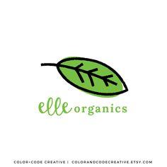 Premade Brand Logo Design | Organic Logo | Business Logo | Boutique Logo | Green Logo by colorandcodecreative on Etsy https://www.etsy.com/listing/253348296/premade-brand-logo-design-organic-logo