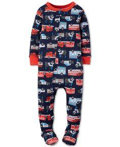 626f4efd7 Carter's Toddler Boys' One-Piece Footed Rescue Trucks Pajamas & Reviews -  Pajamas - Kids - Macy's. Macacão InfantilModelos ...