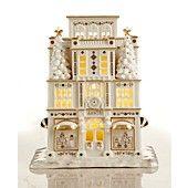 Lenox+Collectible+Figurine,+Exclusive+Village+Treasures+Mistletoe+Park+Department+Store