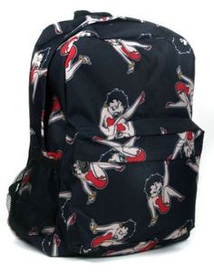 Amazon.com: Black Classic Betty Boop All Over Print Backpack: Clothing