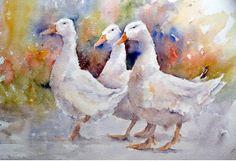 watercolor geese