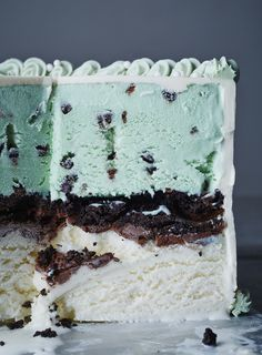 Ice Cream Cake Mint Chocolate