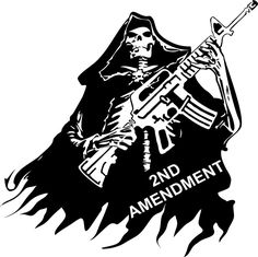 2nd Amendment Skull Grim Reaper Rifle Gun Car Truck Window Vinyl Decal Sticker #Oracal