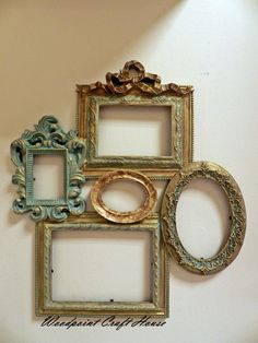DIY Home Decor – Simply sensational house styling ideas and solution. Long for additional brilliant styling decor information jump to the link for the website example today Empty Picture Frames, Antique Picture Frames, Empty Frames, Antique Pictures, Vintage Frames, Frames On Wall, Shabby Chic Picture Frames, Cheap Home Decor, Diy Home Decor