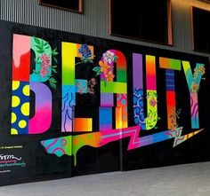 Mural collaboration by Jason Naylor and at Pier 17 - South Street Seaport. Graffiti Wall Art, Mural Wall Art, Wall Collage, Wall Art Prints, Street Mural, Street Wall Art, School Murals, Grafiti, Spray Paint Art