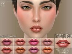 A beautifully glossy and pigmented lipstick in 8 shades. Found in TSR Category 'Sims 4 Female Lipstick'