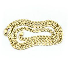Solid 14k Yellow Gold Comfort Cuban Curb 5.7mm Chain Mens Necklace 30