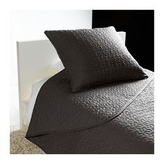 ALINA Bedspread and 2 cushion covers - dark gray, Twin/Full (Double) - IKEA