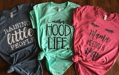 Hey Mommas - do we have the perfect tee for you?! Motherhood is no joke...it is awesome and crazy challenging at the same time. Check out our fun designs that are sure to make other moms smile.