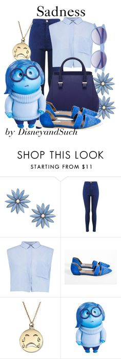 """Sadness"" by disneyandsuch ❤ liked on Polyvore featuring R.J. Graziano, Miss Selfridge, Boohoo, Cynthia Vincent, Alison Lou, Disney, Saraghina, disney, disneybound and insideout"