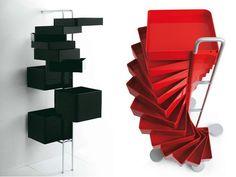 Cassettiera in ABS su ruote SPINNY by B-LINE design Joe Colombo Studio