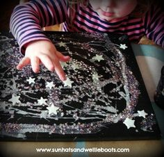 Sun Hats & Wellie Boots: A Glowing Starry Night picture. try this as a glow in the dark gel bag Space Activities, Outdoor Activities For Kids, Sleepover Activities, Sleepover Party, Spa Party, Preschool Themes, Preschool Art, Art For Kids, Crafts For Kids