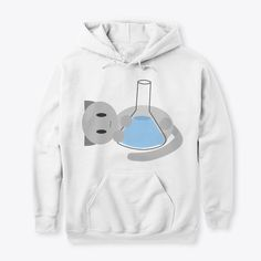 Erlenmeower Flask (Cat And Chemistry) Products from Floofs and Maths Hoodies, Sweatshirts, Cute Fashion, Cool Shirts, Chemistry, Cat Lovers, Erlenmeyer Flask, Nerd, Graphic Sweatshirt