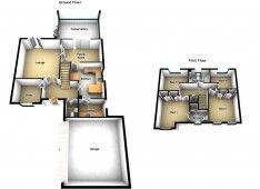 best free floor plan software with minimalist ground floor with simple garage and modern kitchen design