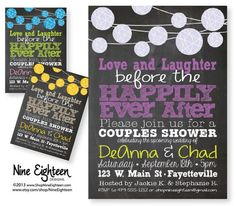 Couples Shower Invitation Love Laughter Happily by NineEighteen, $12.00: