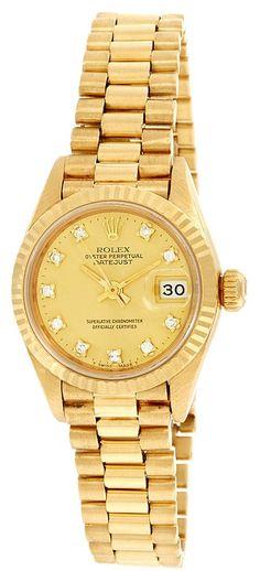 "Rolex Women's 1986 ""President"" Diamond Watch ♥✤   Keep the Glamour   BeStayBeautiful"