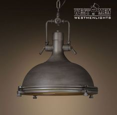 Vintage Style Industrial Dome Pendant Hanging Light Rustic Aged Iron Steampunk