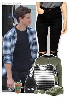 """Day with Shawn"" by xcuteniallx ❤ liked on Polyvore featuring ASOS, Boohoo, Monki, Anya Hindmarch and Ray-Ban"