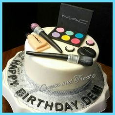 MAC makeup themed birthday cake