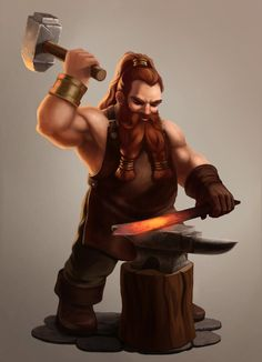 Blacksmith dwarf by LKivihall