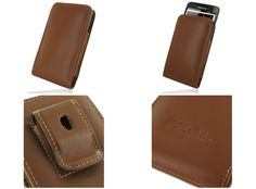 PDair Leather Case for Samsung Galaxy Note GT-N7000/GT-i9220/LTE SGH-i717/SGH-T879 - Vertical Pouch Type Belt Clip Included (Brown)