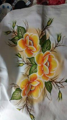 Dress.Natural silk dress - handmade artwork, silk painting, yellow floral dress, pansy Fabric Painting On Clothes, Dress Painting, Painted Clothes, Silk Painting, Fabric Paint Designs, Hand Painted Dress, Fruit Picture, Yellow Floral Dress, Fabric Markers
