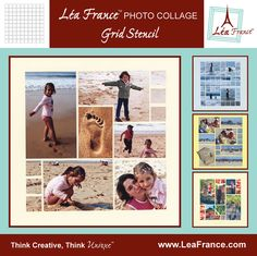 Grid Template by Lea France. All the photo collages on this board were designed using this versatile template. The sky is the limit for the pages you can design by using just this template and your imagination. Only $21.99 #Photos #Collage #Designs #Stencils #PhotoCollage