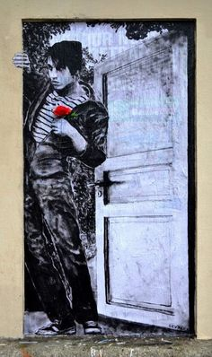 Close up of a paste up by French artist Levalet #levalet #streetart #art…