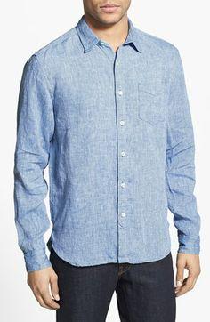 Lucky Brand 'Slater' Linen Sport Shirt | Nordstrom