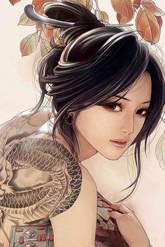 Oriental beauty, timeless.