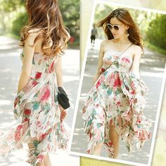 Color: Photo Color Special process: printing Style: chest wrapped paragraph Skirt Length: Skirt For the season: spring, summer Fabric: chiffon / georgette Style: Bohemian Thickness: thin section Sleeve Length: Sleeveless Size:average size      skirt length 93cm.bust 82-88cm.waist66-70cm.