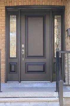 Best Front Door Paint Colors - Popular Colors To Paint An Entry Door - ruang. Door Design Interior, Door Design, House Entrance, House Front, Pine Interior Doors, Exterior Front Doors, Doors Interior, Entry Doors, Front Door Design