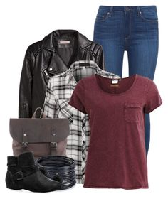 """Back-to-school: Clary Fray"" by cinna78 ❤ liked on Polyvore featuring Paige Denim, H&M, Object Collectors Item, ABS by Allen Schwartz, Anne Klein, Avenue, women's clothing, women's fashion, women and female"