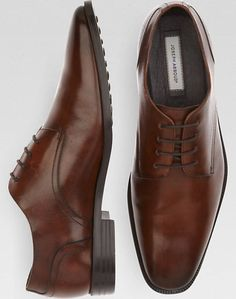 Joseph Abboud Bennett Brown Oxford Lace Ups - Dress Shoes | Men's Wearhouse $129.99 Trig & Polished Approved // Promoting Good Men's Style // www.trigandpolished.com