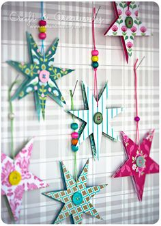 Dagens pyssel, pappersstjärnor – Craft of the Day, paper stars | Craft Creativity – Pyssel DIY