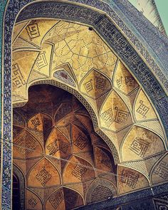 Jameh's Mosque, 900 years old, Isfahan, Iran. The Hypnotizing Beauty Of Iranian Mosque Ceilings Art Et Architecture, Persian Architecture, Mosque Architecture, Beautiful Architecture, Architecture Details, Minimalist Architecture, Ancient Architecture, Islamic World, Islamic Art