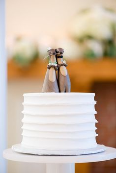 """""""I love you like no OTTER"""" quirky wedding cake topper"""