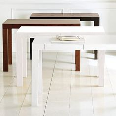 parsons desk is great for a work place at home. it's chic and simple.