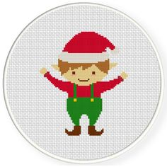 Charts Club Members Only: Christmas Elf Cross Stitch Pattern
